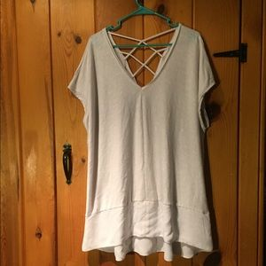 Lane Bryant white tunic